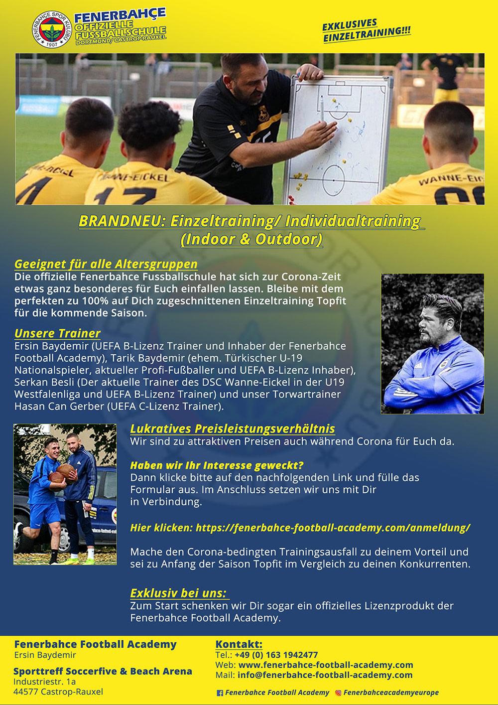 Fenerbahce Football Academy Europa Dortmund Castrop Rauxel